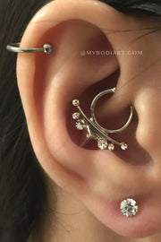 Popular Ear Piercing Ideas for Teens Teenagers Cartilage Ring Daith Rook Hoop Earring Lobe Stud 16G Silver Pinterest - Ideas Para Perforar Orejas -  www.MyBodiArt.com