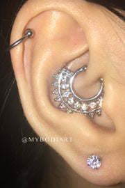 Popular Ear Piercing Ideas for Teenagers Cartilage Ring Daith Hoop Rook Lobe Stud Earring - www.MyBodiArt.com