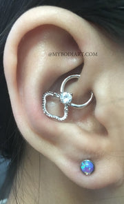 Cute Ear Piercing Ideas Daith Earrings Hoop - Opal Ear Lobe Studs -  www.MyBodiArt.com