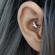 Cute Daith Ear Piercing Jewelry Ideas for Women -  lindas ideas para perforar orejas para mujeres -  www.MyBodiArt.com