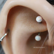 Cute Opal Rook Ear Piercing Jewelry Ideas for Women -  Ideas lindas de la joyería - www.MyBodiArt.com