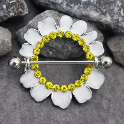 Daisy Nipple Piercing Jewelry at MyBodiArt
