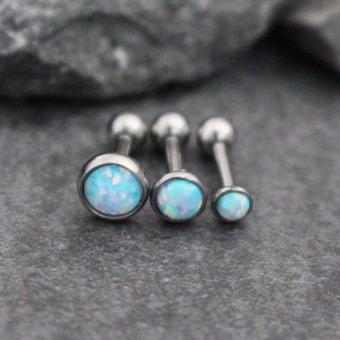 Dazzle Opal Ear Piercing in Baby Blue
