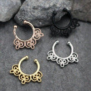 Fake Septum Ring in Gold, Rose Gold, Silver, Black