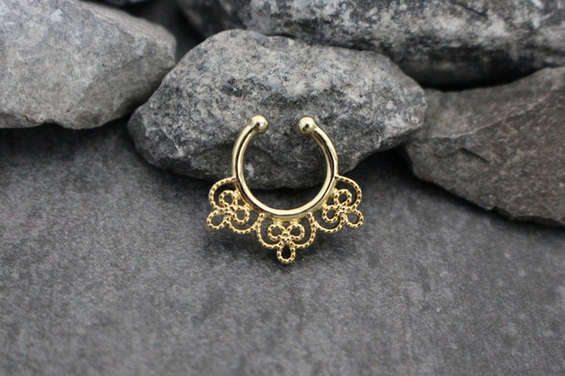 Golden Faux Septum Ring