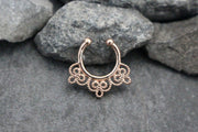 Rose Gold Fake Septum Piercing
