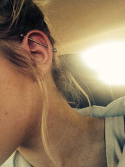 Cute and Simple Industrial Piercing Barbells