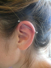 Simple Industrial Piercing Barbells at MyBodiArt