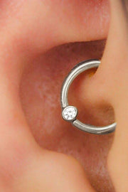 Cute Simple Daith Ear Piercing Jewelry Ideas for Women - www.MyBodiArt.com