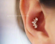 Conch Ear Piercing Ideas Cute Jewelry Earring Stud - www.MyBodiArt.com