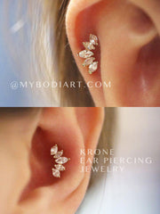 Simple & Cute Ear Piercing Ideas that are very Feminine & Popular for Teenagers - Ideas Para Perforar Orejas - idées de perçage d'oreille - Ohr piercing Ideen - www.MyBodiArt.com
