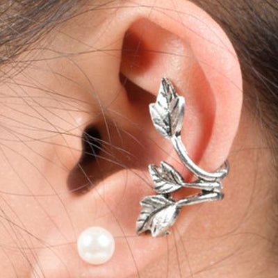 Leaf Ear Cuff Earring for Conch Cartilage Helix Boho Fashion Jewelry - www.MyBodiArt.com