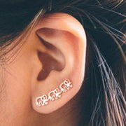 Cute Animal Ear Piercing Ideas at MyBodiArt.com - Triple Lobe Elephant Ear Climber Earring
