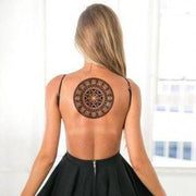 Black Mandala Temporary Tattoo - MyBodiArt.com