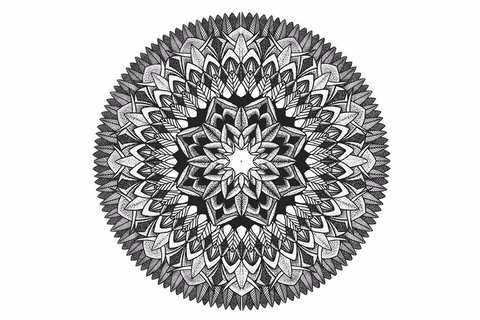 Black and White Mandala Temporary Tattoos Set - MyBodiArt.com