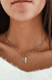 Cute Rose Necklace Ideas for Teen Girls - Simple Dainty Gold or Silver Flower Jewelry for Women - collares de rosas para las mujeres - www.MyBodiArt.com #necklace