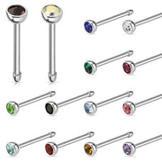 Swarovski Coloured Crystal 20G Nose Piercing
