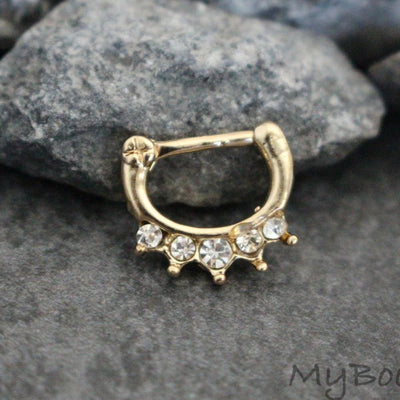 Gold Septum Clicker at MyBodiArt