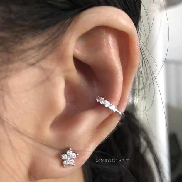 Cute Unique Ear Piercing Ideas for Conch Cartilage Helix Earring Womens Fashion Jewelry - www.MyBodiArt.com