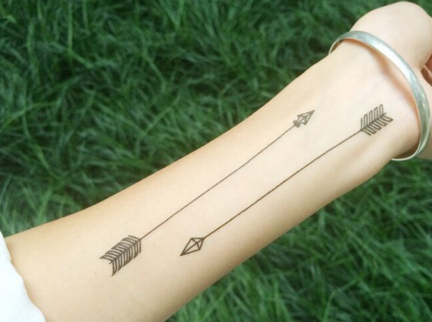 Arrow Temporary Tattoo Sheet Set - MyBodiArt