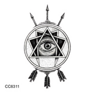 Mystic Arrow Evil Eye Temporary Tattoo