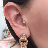 Unique Ear Piercing Ideas - Crystal Star Tragus Piercing Jewelry at MyBodiArt.com