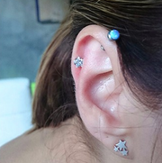 Cute Multiple Ear Piercing Jewelry Ideas for Women Crystal Star Cartilage Helix Earring Stud - www.MyBodiArt.com