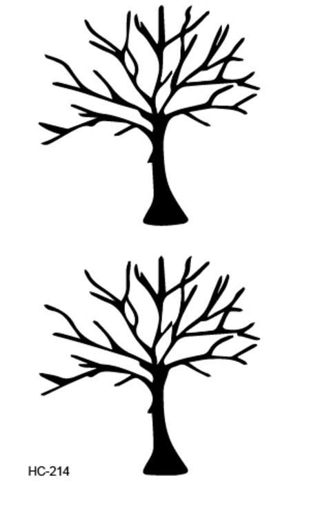 Lew Oak Tree Temporary Tattoo - MyBodiArt.com