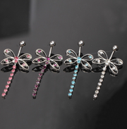 Cute Belly Button Piercing Ring Jewelry at MyBodiArt.com - Butterfly Navel Jewellery in Pink, Purple, Blue, Clear Crystals