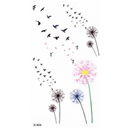 Chenoa Flying Bird Sparrow Silhouette Temporary Tattoo