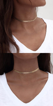 Minimal Simple Chain Choker Necklace at MyBodiArt.com - Outfit Accessories Ideas