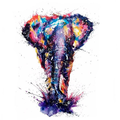 Elephant Watercolor Temporary Tattoo