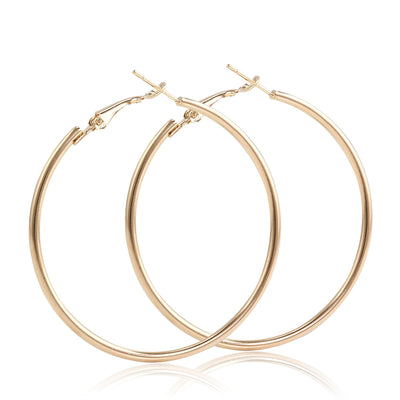 Simple Ear Piercing Ideas - Round Hoop Earring Set in Gold or Silver 12 Pairs - www.MyBodiArt.com
