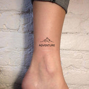 Cute Small Mountains Adventure Ankle Tattoo Ideas for Women - www.MyBodiArt.com #tattoos