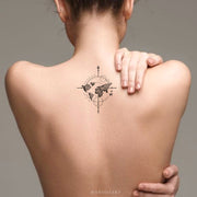 Cute Trending Map Arrow Wanderlust Back Tattoo Ideas for Women -  Flecha mapa atrás tatuaje ideas para mujeres - www.MyBodiArt.com