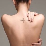 Script Quote Back Tattoo Ideas for Women - www.MyBodiArt.com #tattoos