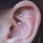 Cute Simple Rook Ear Piercing Jewelry Ideas for Women - www.MyBodiArt.com