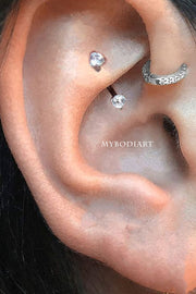 Simple Rook Ear Piercing Ideas Minimalist Jewelry Earring -  ideas de perforación de la oreja linda torre - www.MyBodiArt.com