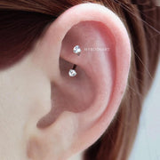 Cute Simple Crystal Rook Ear Piercing Jewelry Ideas for Women - French ear piercing jewelry ideas - idées de bijoux piercing oreille - www.MyBodiArt.com