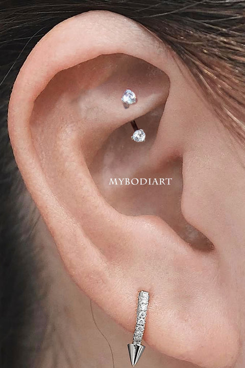 Cute Simple Rook Ear Piercing Jewelry ideas for Women - www.MyBodiArt.com #earrings