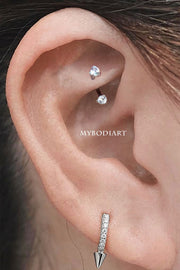 Cute Simple Rook Ear Piercing Jewelry Ideas for Women - lindas ideas de joyería para perforar orejas - www.MyBodiArt.com #earring