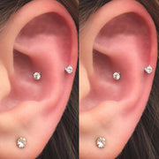Cute Crystal Snug Ear Piercing Jewelry Ideas for Women - www.MyBodiArt