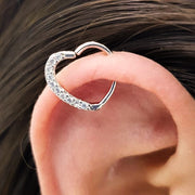 Unique Cute Heart Cartilage Helix Ear Piercing Jewelry Ideas for Women -  Corazón lindo cartílago oreja piercing ideas para mujeres - www.MyBodiArt.com