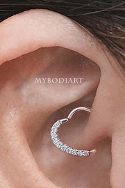 Cute Heart Daith Ear Piercing Jewelry Ideas for Women -  joyería piercing de oreja - www.MyBodiArt.com #piercings