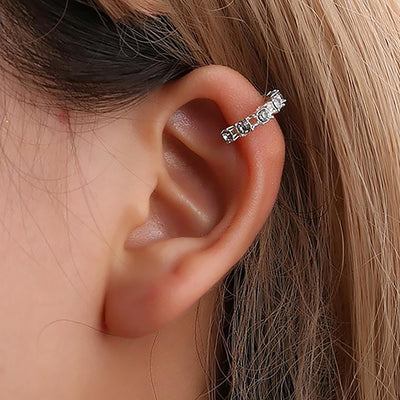 Amy Simple Crystal Ear Cuff Earring