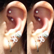 Beautiful Opal Rook Ear Piercing Jewelry Ideas for Women - www.MyBodiArt.com