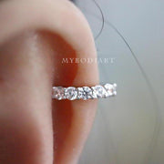 Cute Dainty Cartilage Helix Ear Piercing Jewelry Ideas for Women -  ideas de joyas de cartílago piercing de oreja - www.MyBodiArt.com
