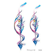 Sienna Colorful Watercolor Arrow Temporary Tattoo
