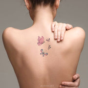 Unique Watercolor Butterfly Back Tattoo Ideas for Women - www.MyBodiArt.com #tattoos