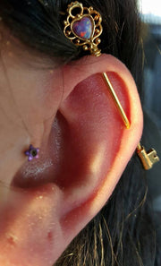 Purple Opal Industrial Piercing Jewelry at MyBodiArt.com